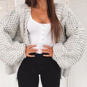 White Fox Boutique Cool Change Chunky Cardigan